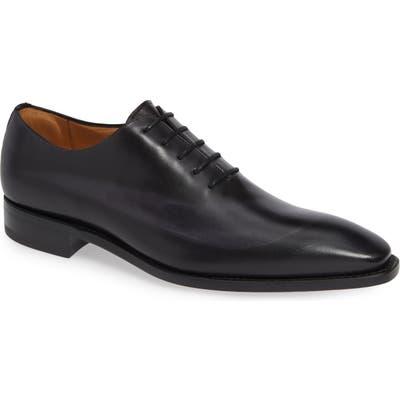Mezlan Cline Plain Toe Lace-Up Derby- Black