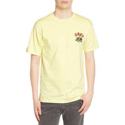 Obey Briar Graphic T-Shirt, Yellow
