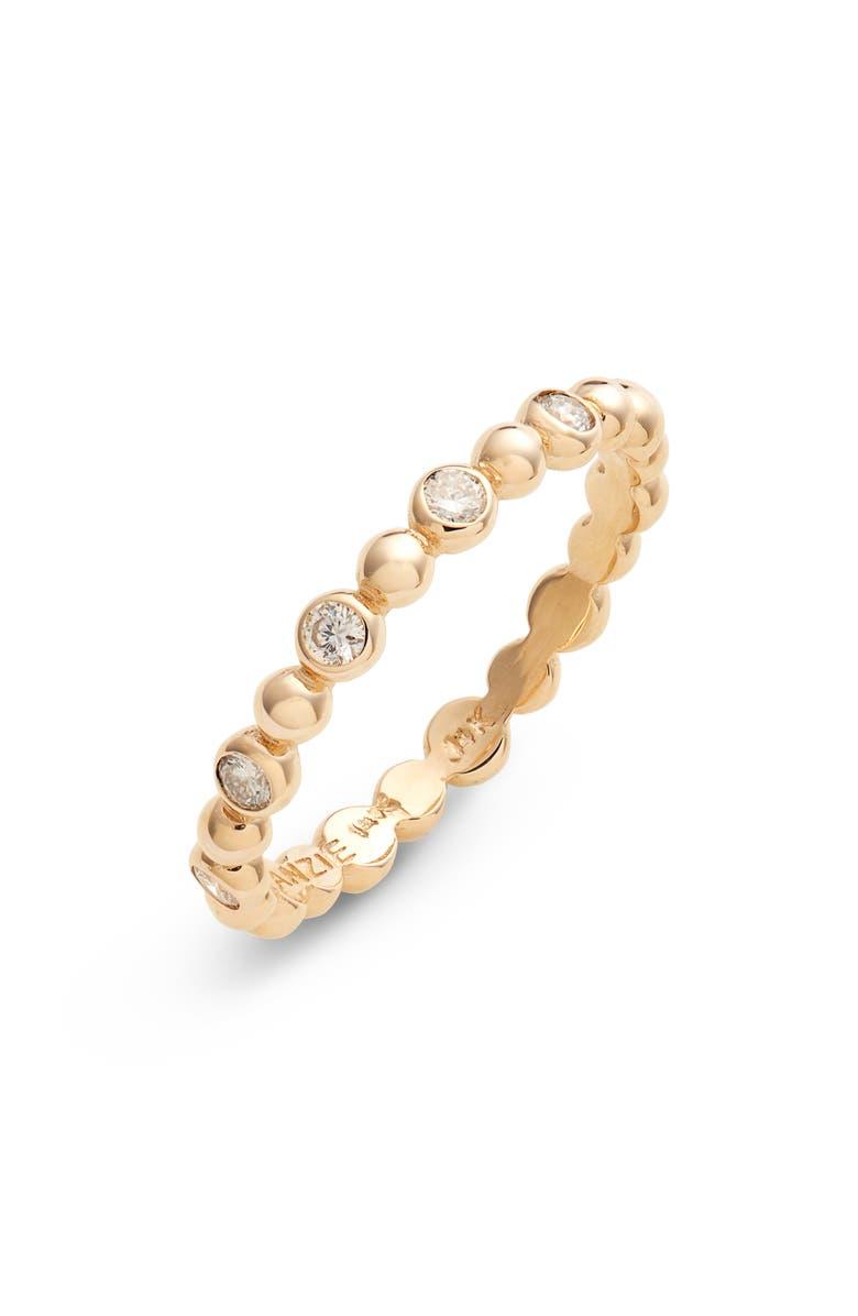 ANZIE Dew Drop Diamond Band Ring, Main, color, GOLD/ DIAMOND