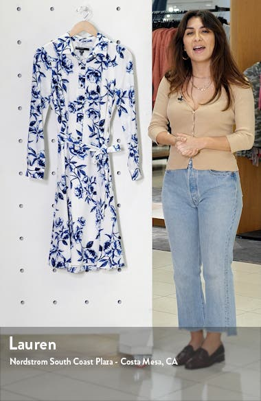 Floral Long Sleeve Shirtdress, sales video thumbnail