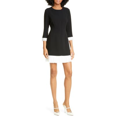 Cinq A Sept Catriona Contrast Trim Minidress, Black