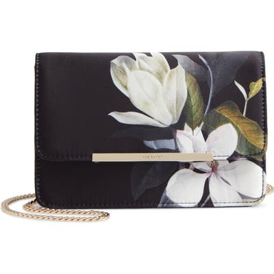 Ted Baker London Jacala Bar Floral Crossbody Bag - Black