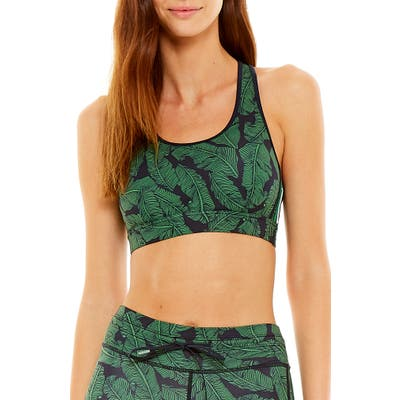 The Upside Anna Palm Leaf Sports Bra