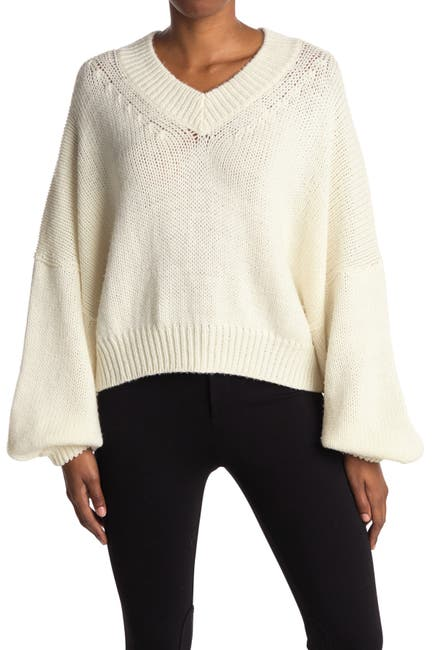Image of RODEBJER Cayenne Wool Blouson Sleeve Sweater