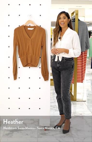 Evie Surplice Cotton Blend Sweater, sales video thumbnail