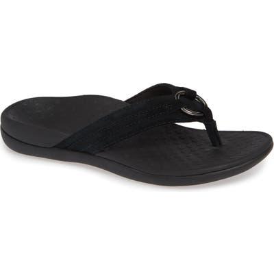 Vionic Aloe Flip Flop, Black