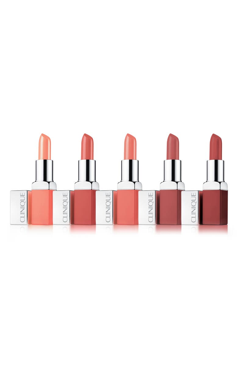 CLINIQUE All About Nudes Pop Lip Color + Primer Set, Main, color, 000