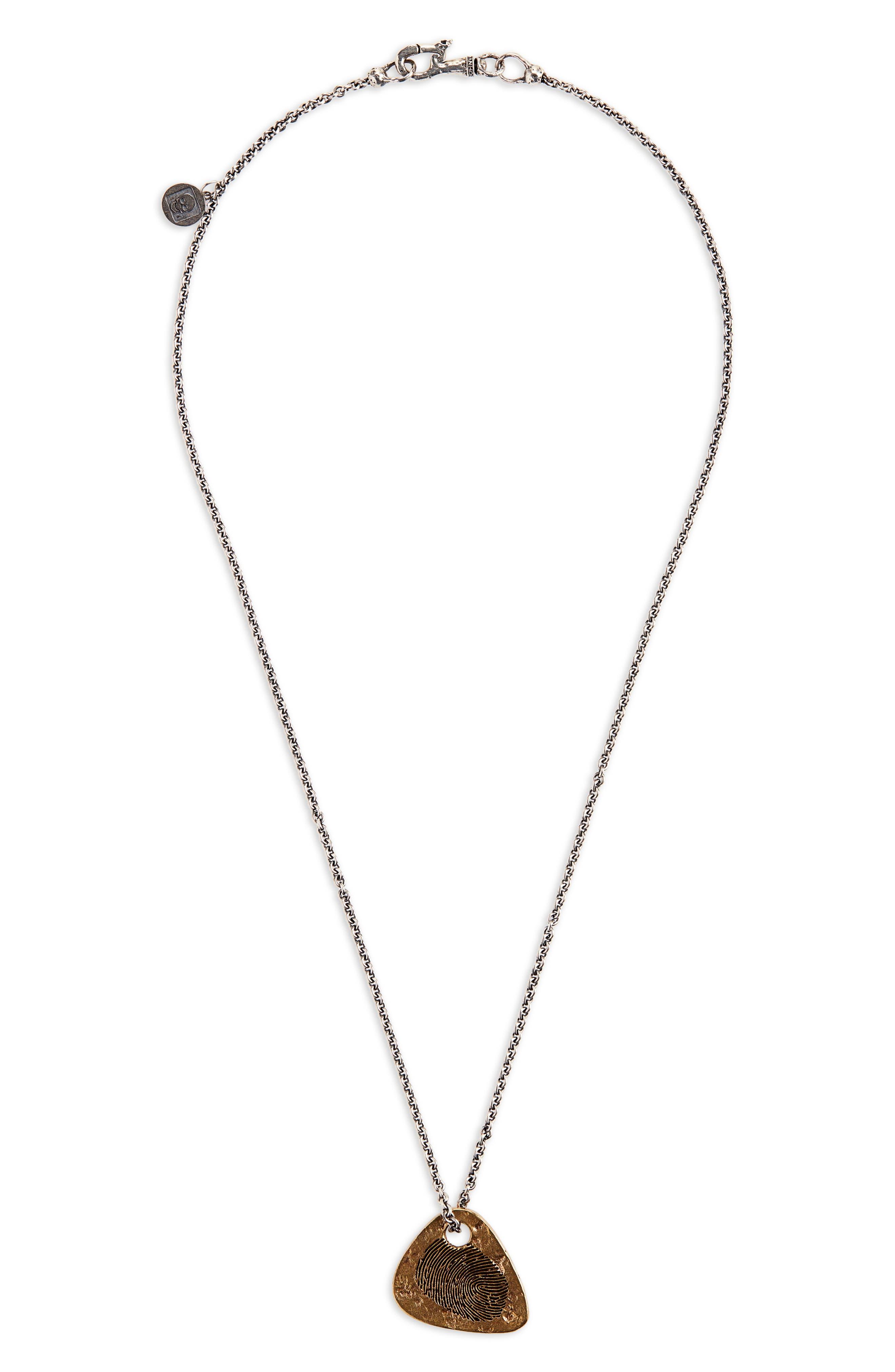 Guitar Pick Pendant Necklace