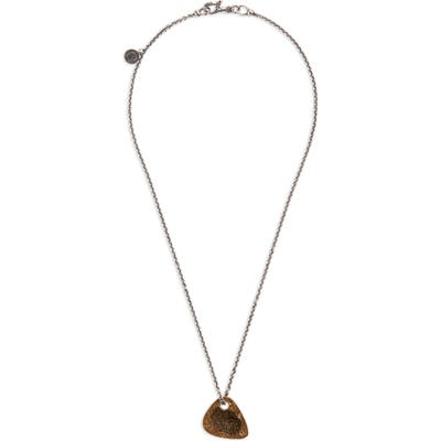 John Varvatos Guitar Pick Pendant Necklace