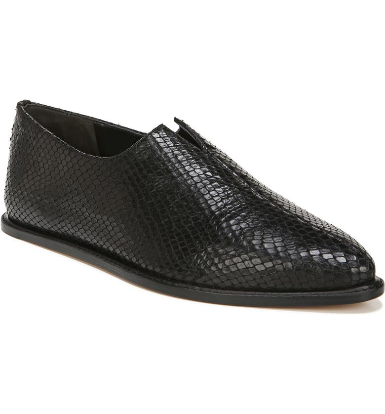 VINCE Porto Flat, Main, color, BLACK LEATHER