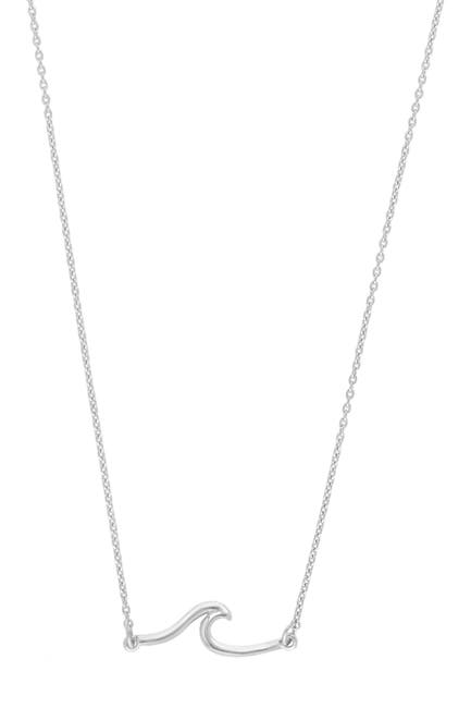 Image of Sterling Forever Sterling Silver Dainty Wave Necklace