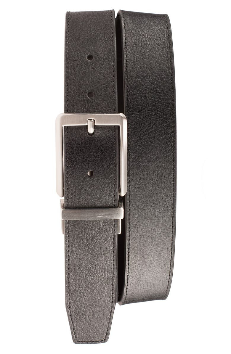 NIKE 'Core' Reversible Leather Belt, Main, color, BLACK/ BROWN