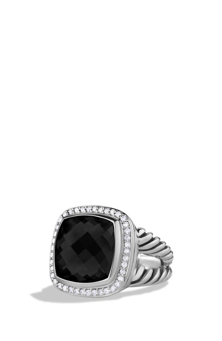 DAVID YURMAN 'Albion' Ring with Semiprecious Stone & Diamonds, Main, color, 001
