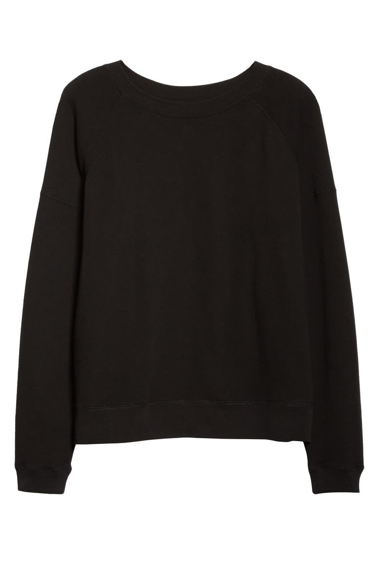 ENTIREWORLD French Terry Sweatshirt, Main, color, BLACK