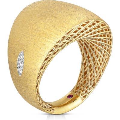 Roberto Coin Golden Gate Pave Diamond Ring