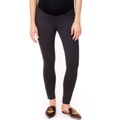 Ingrid & Isabel Ponte Knit Skinny Maternity Ankle Leggings, Grey