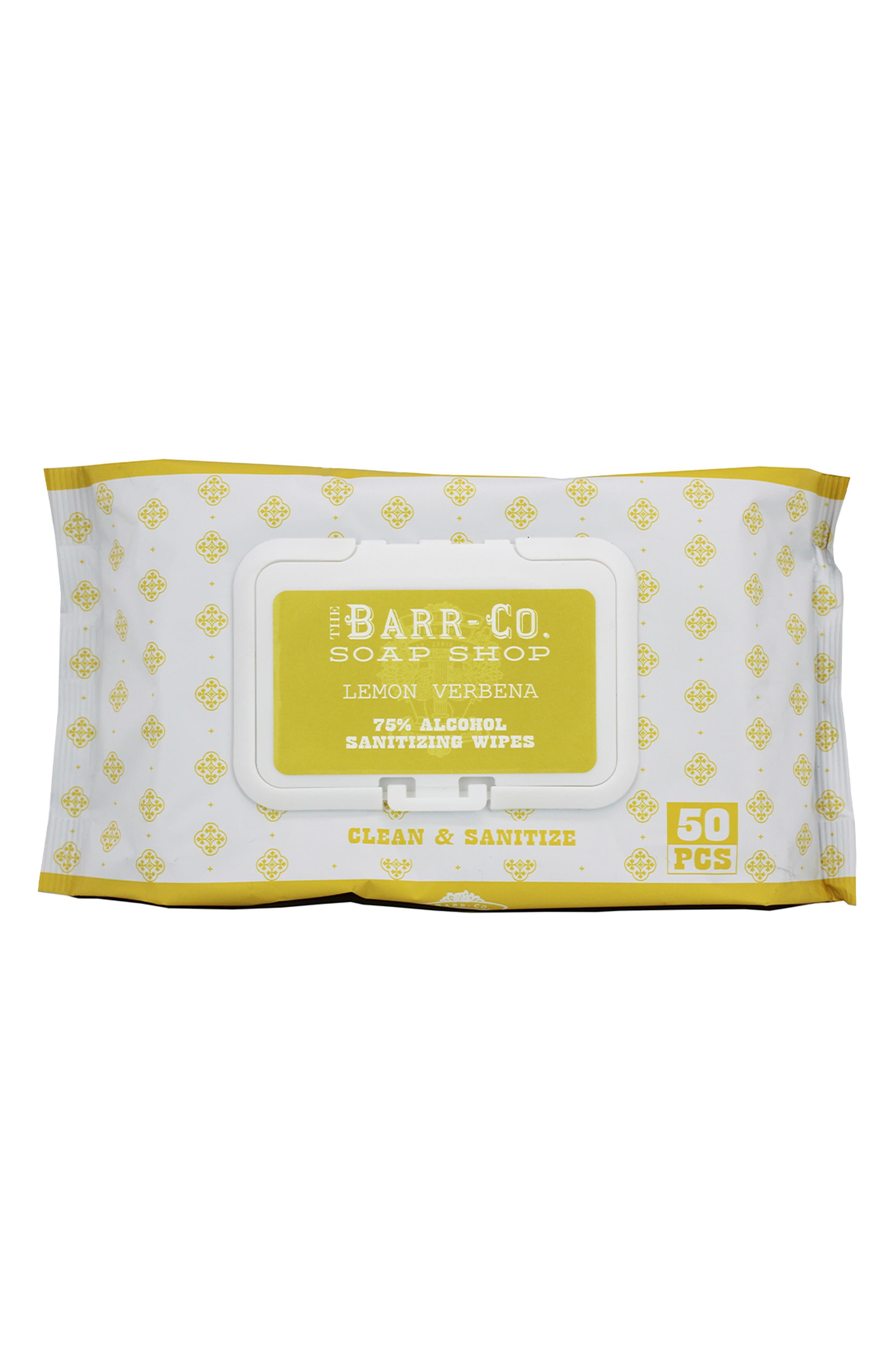 Lemon Verbena 75% Alcohol Sanitizing Wipes