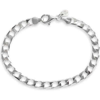 Argento Vivo Square Curb Chain Bracelet