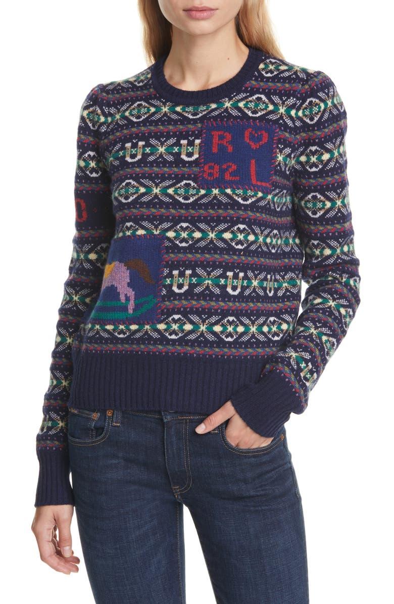 POLO RALPH LAUREN Fair Isle Wool & Cashmere Sweater, Main, color, 405