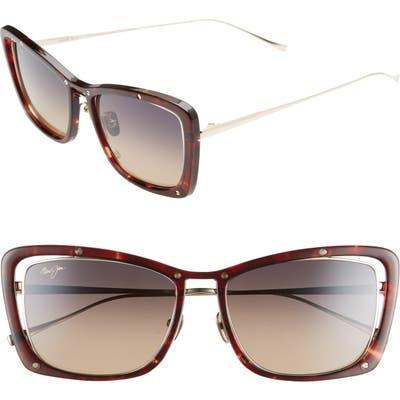 Maui Jim Adrift 5m Polarized Cat Eye Sunglasses - Tortoise/ Gold/ Bronze