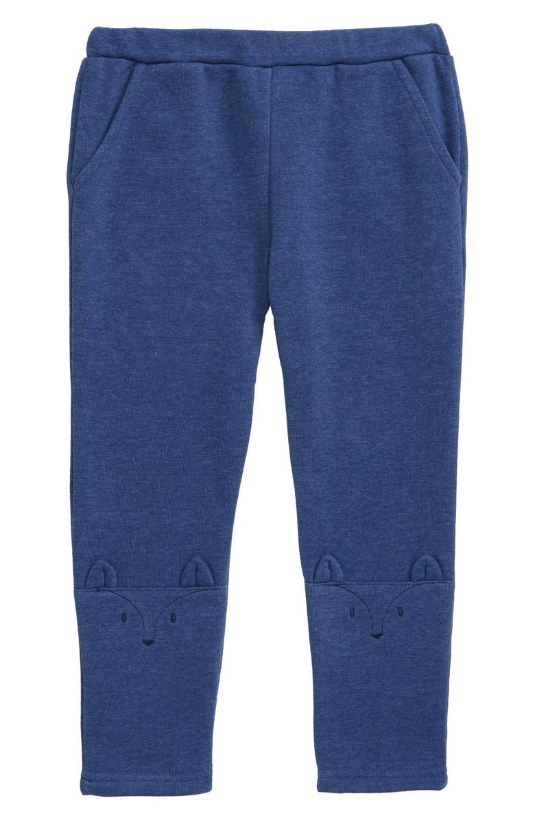 MINI BODEN Fun Knee Knit Pants, Main, color, ELIZABETHAN BLUE/ FOX