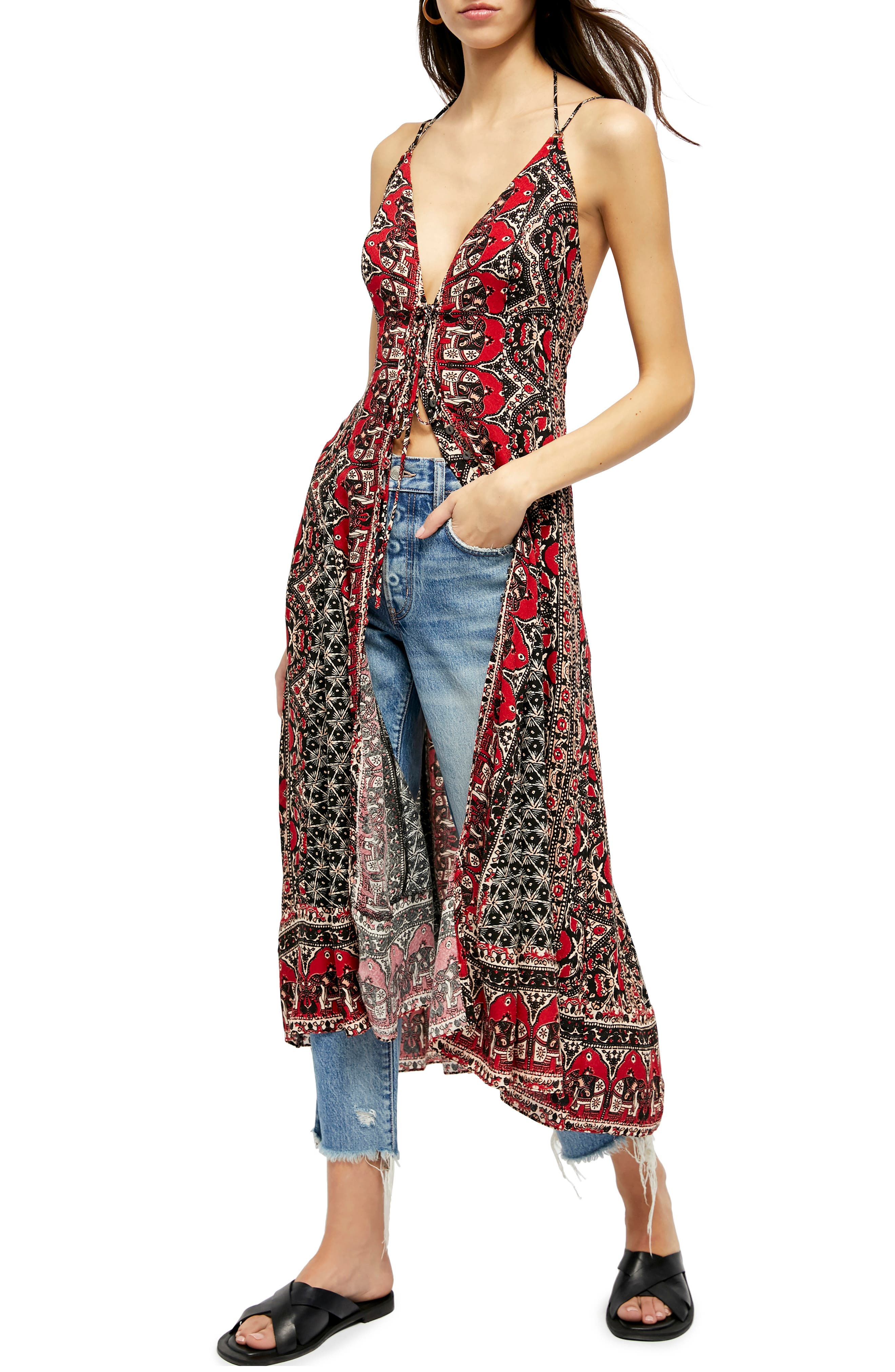 Image of Free People On The Bright Side Maxi Walk-Through Top