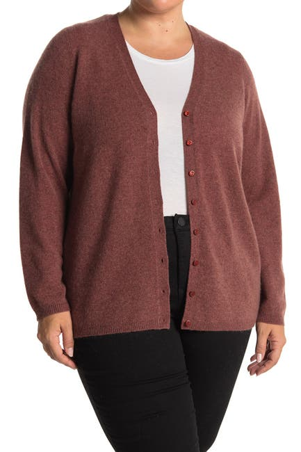 Image of M Magaschoni V-Neck Button Front Cashmere Cardigan