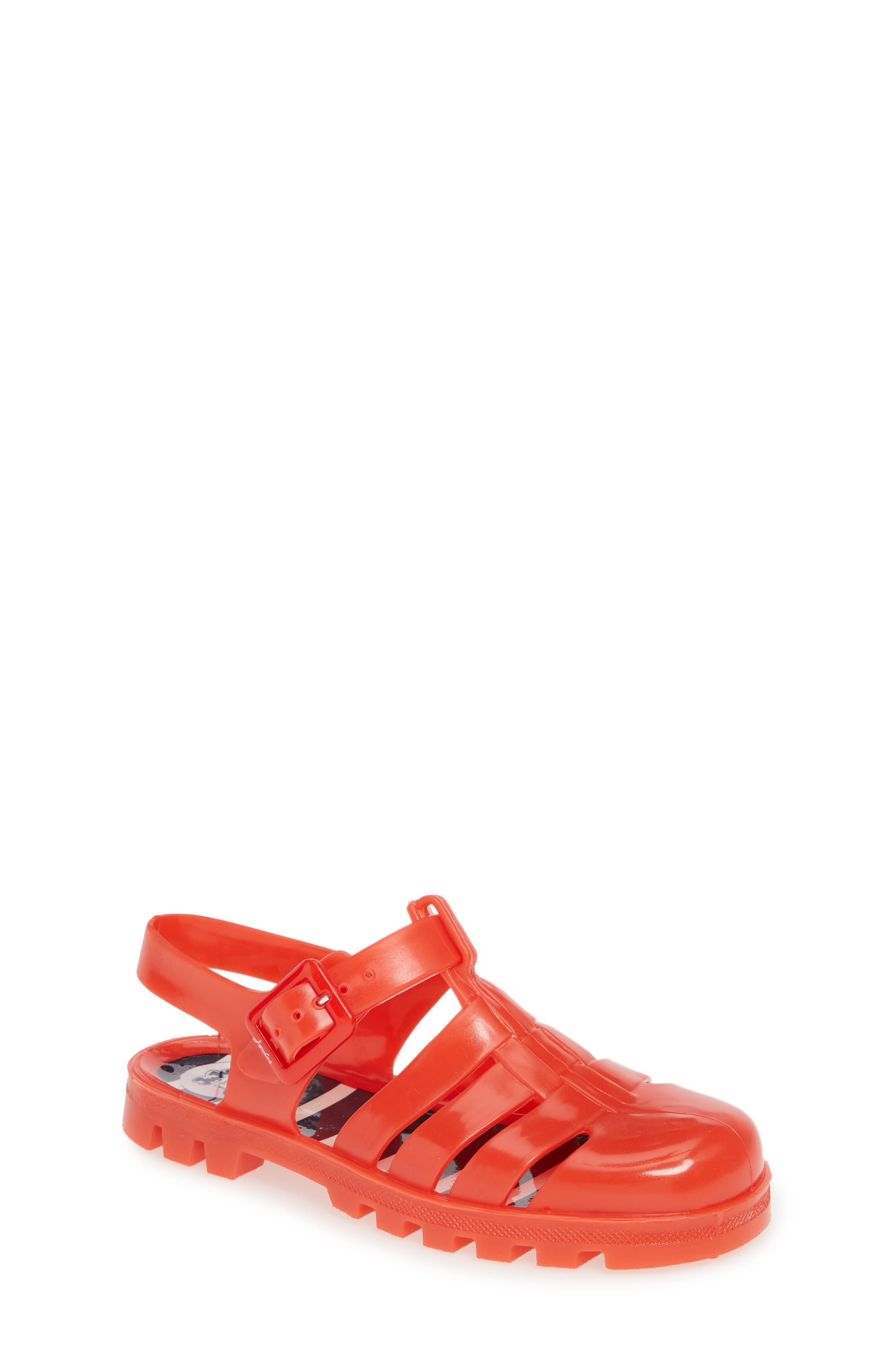 Girls Joules Jelly Sandal Size 4 M  Red