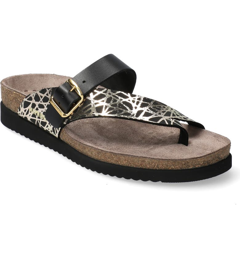 MEPHISTO Helen Mix Sandal, Main, color, BLACK SMOOTH LEATHER