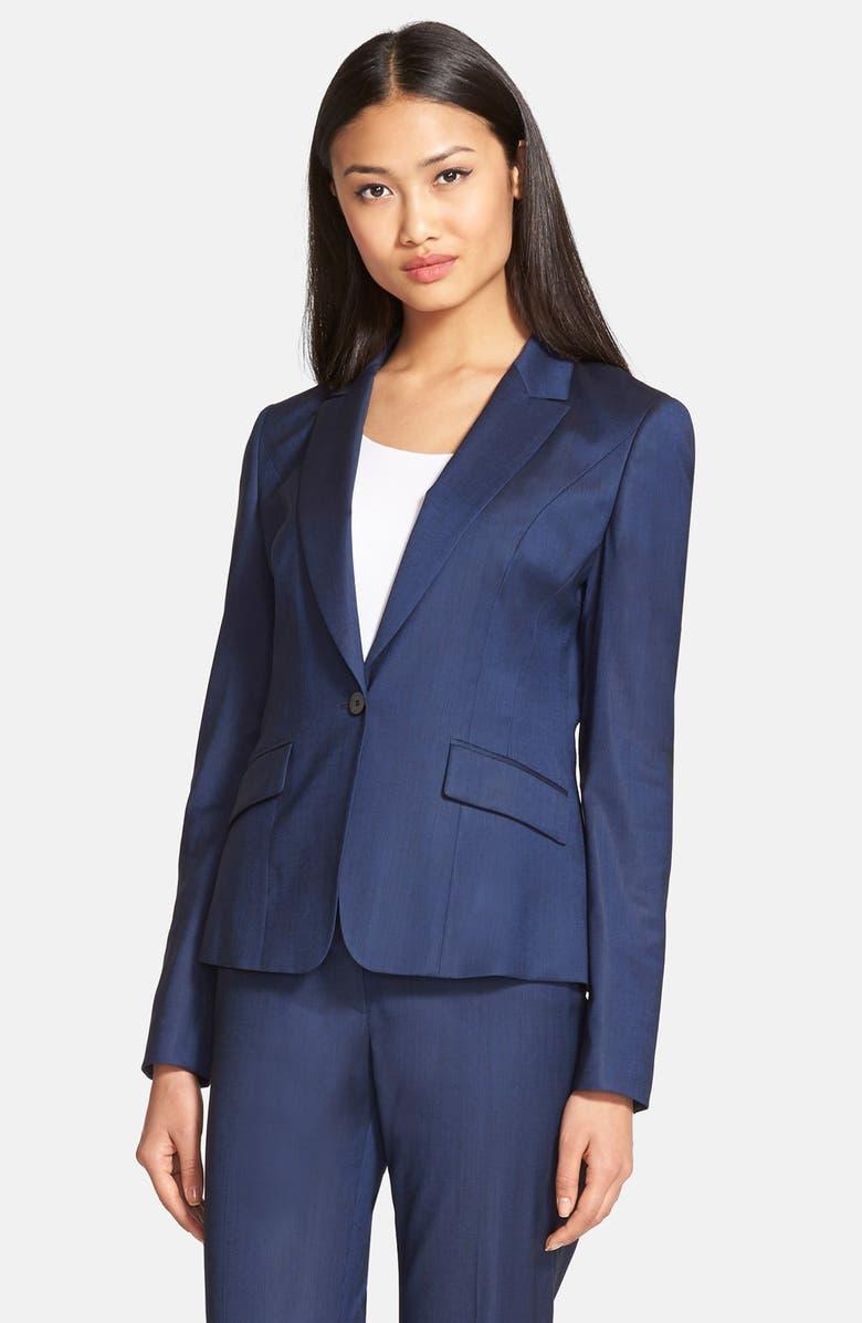 BOSS 'Janore' One-Button Blazer, Main, color, 420
