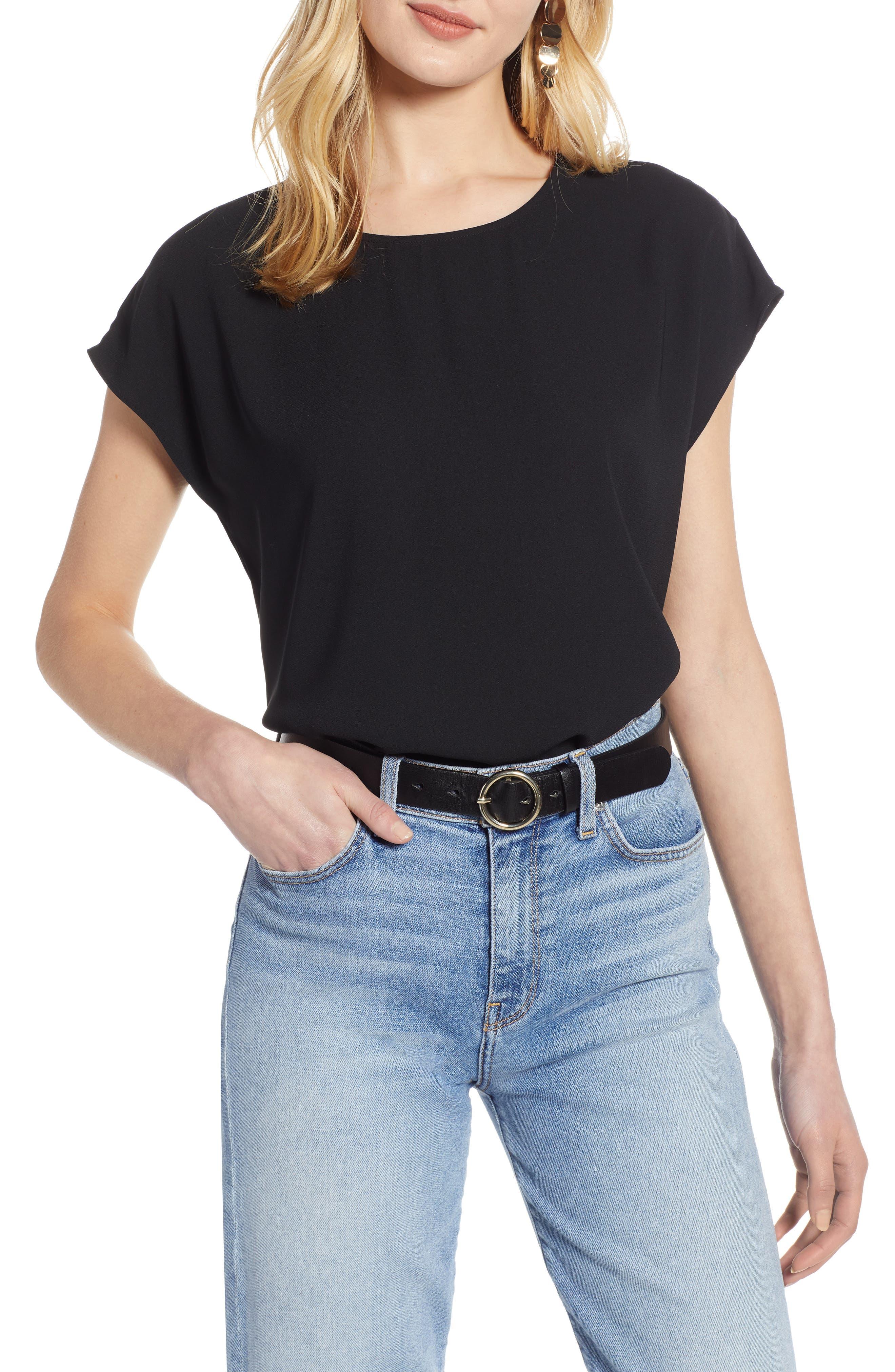 Women's Halogen Cap Sleeve Blouse