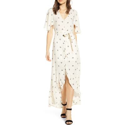 Lira Clothing Ellie Belted High/low Maxi Dress, Ivory