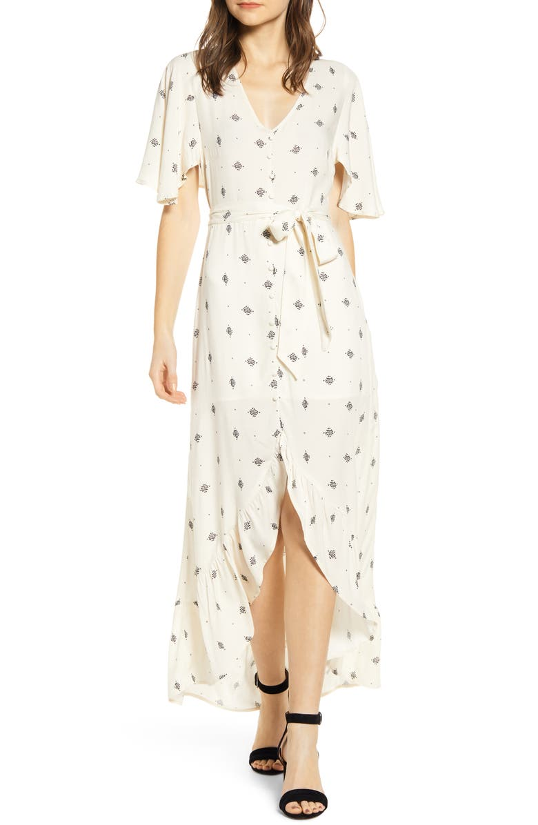 Lira Clothing Ellie Belted High Low Maxi Dress