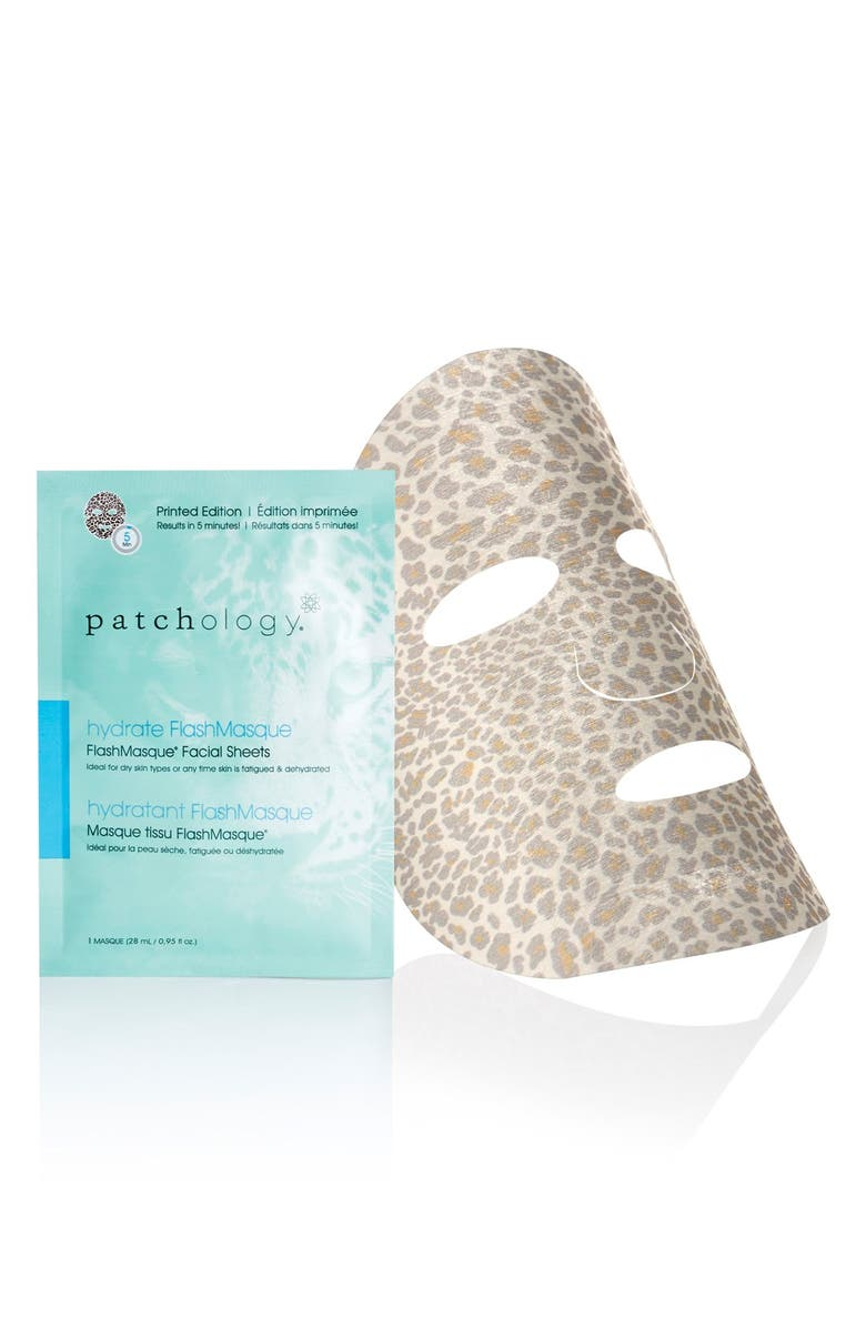 PATCHOLOGY 'FlashMasque<sup>™</sup> Leopard' Facial Sheets, Main, color, 000