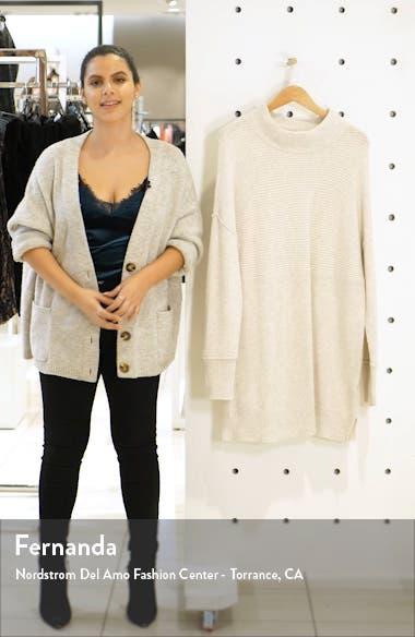 Mix Rib Cotton Blend Tunic Sweater, sales video thumbnail