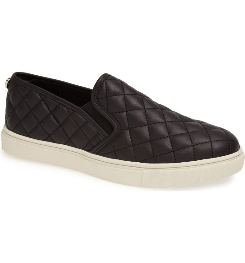 STEVE MADDEN 'Ecentrcq' Sneaker, Main, color, BLACK FAUX LEATHER