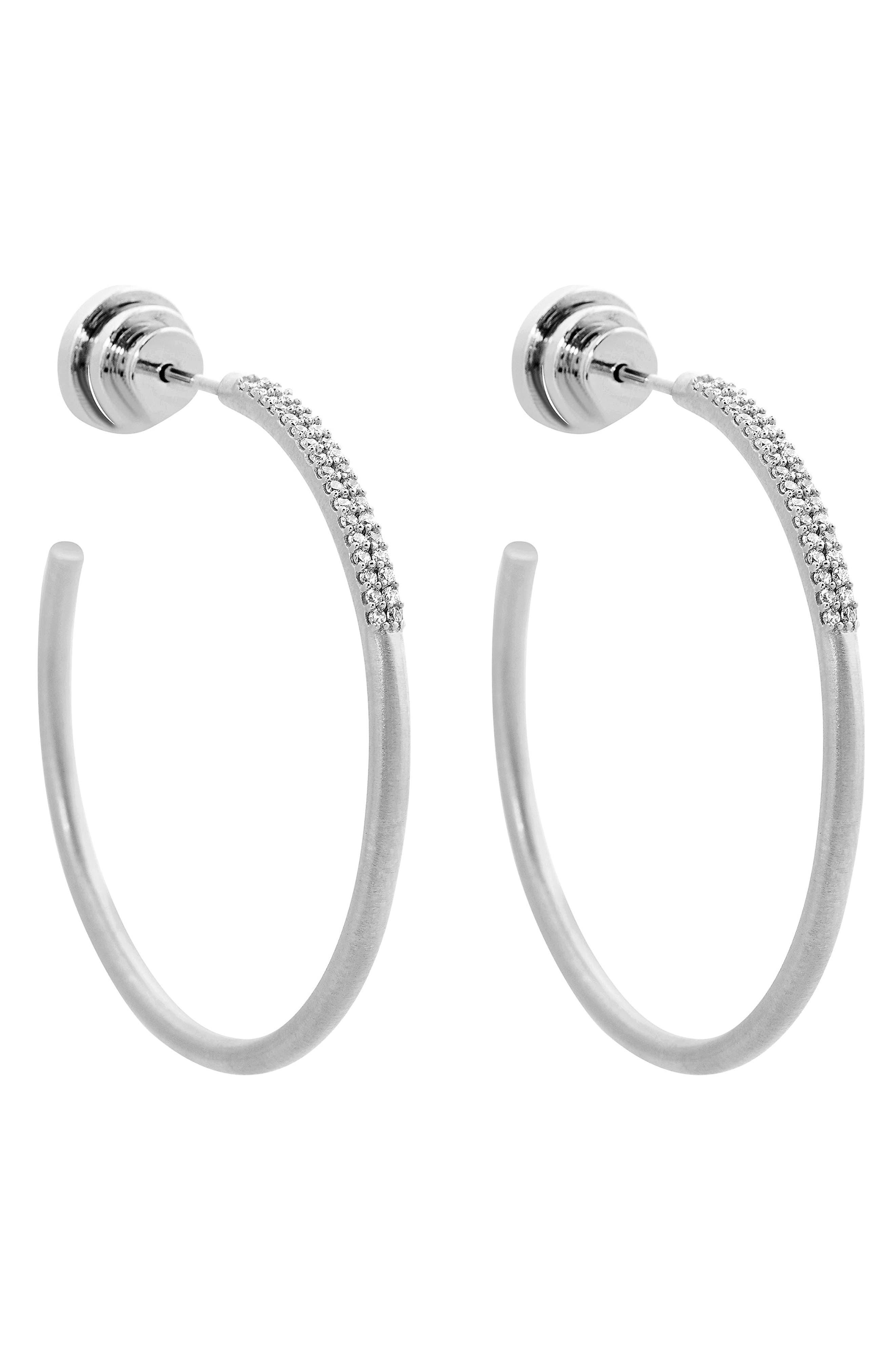 Signature Pave Hoop Earrings