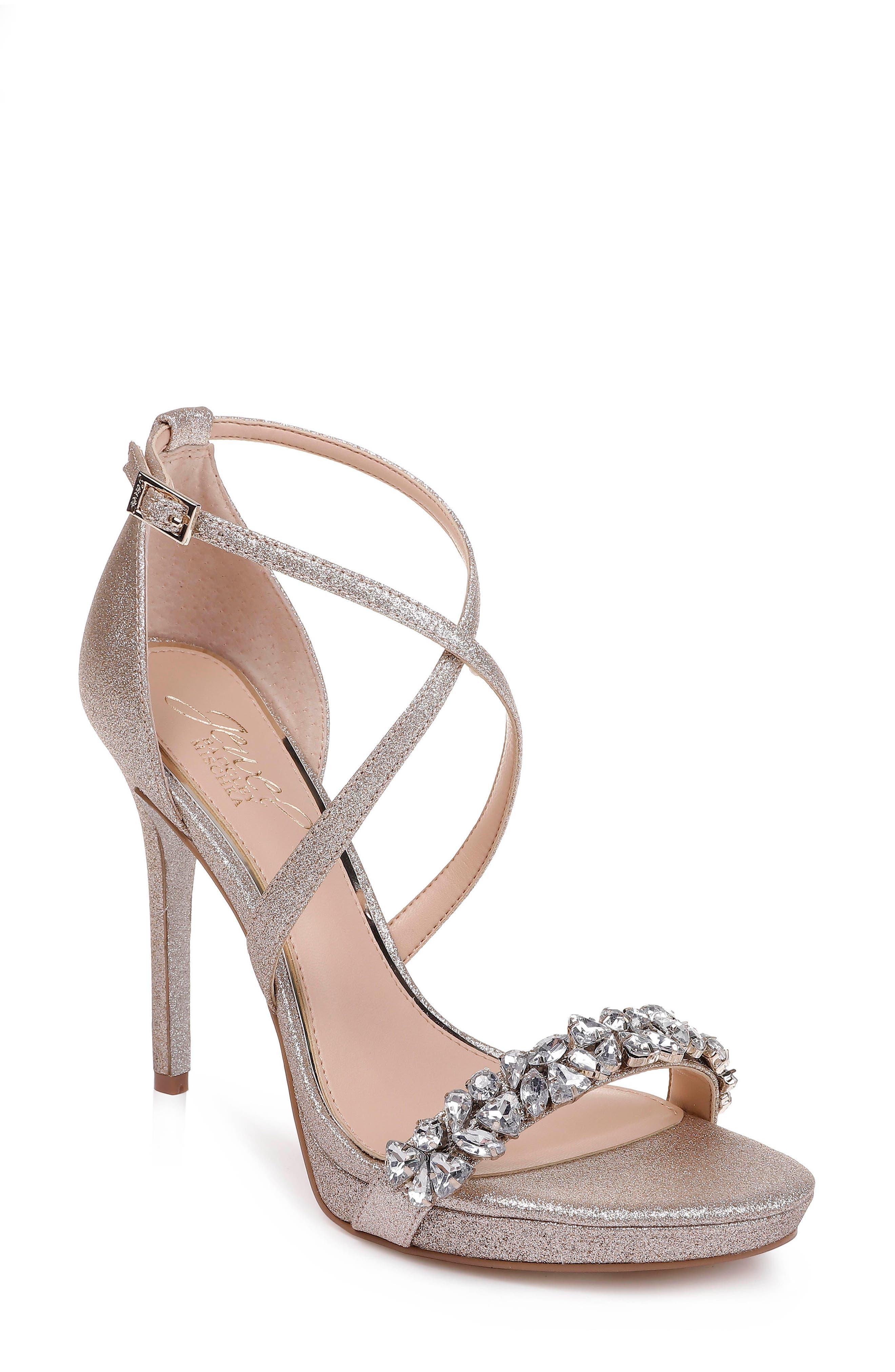 Jewel Badgley Mischka Dany Strappy Sandal- Metallic