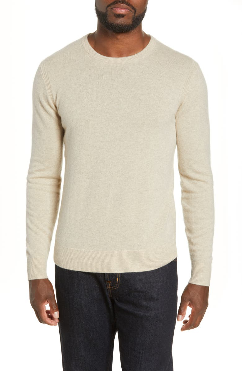 TODD SNYDER Cashmere Crewneck Sweater, Main, color, OATMEAL