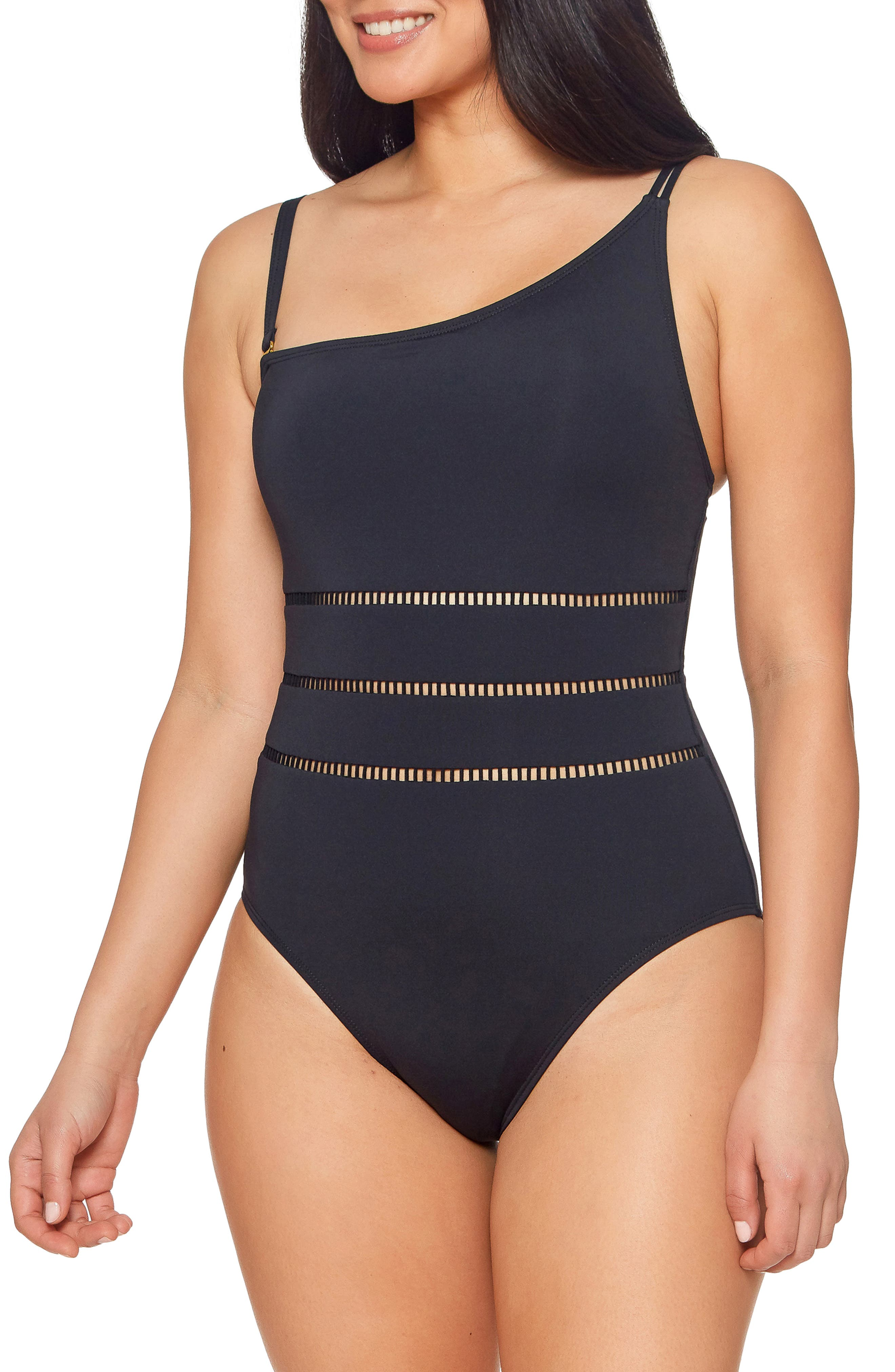 Behind The Seams One-Shoulder One-Piece Swimsuit