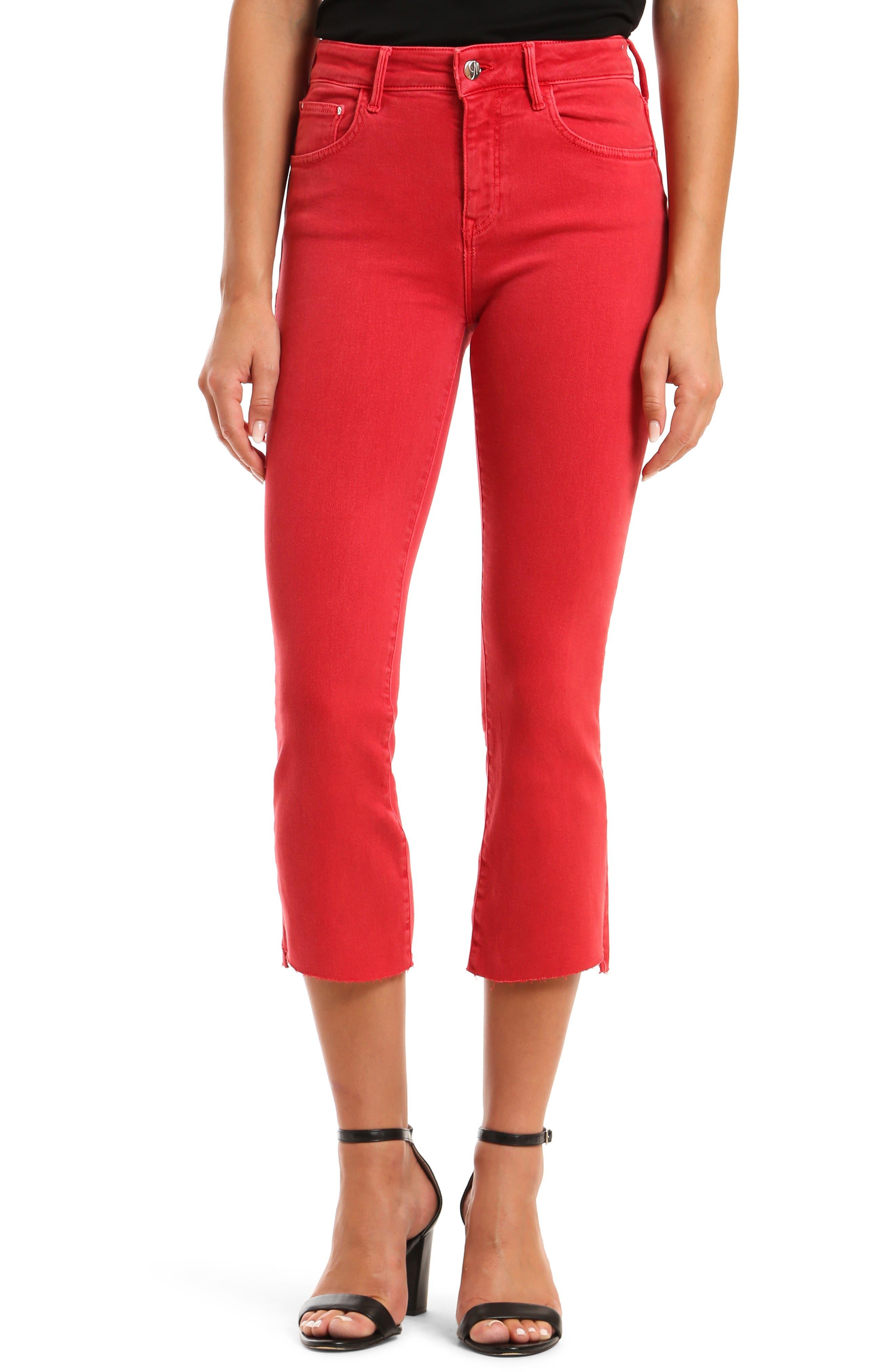 Anika High Waist Crop Flare Jeans