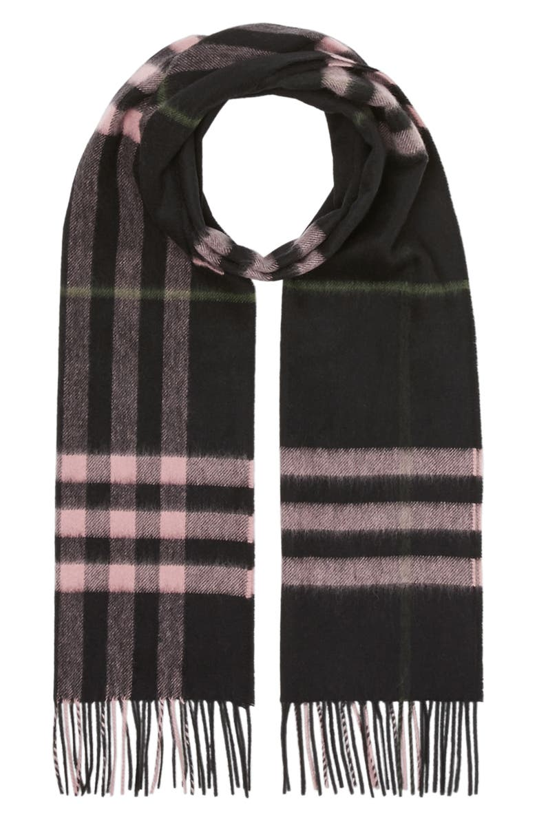 BURBERRY Giant Icon Check Cashmere Scarf, Main, color, 004