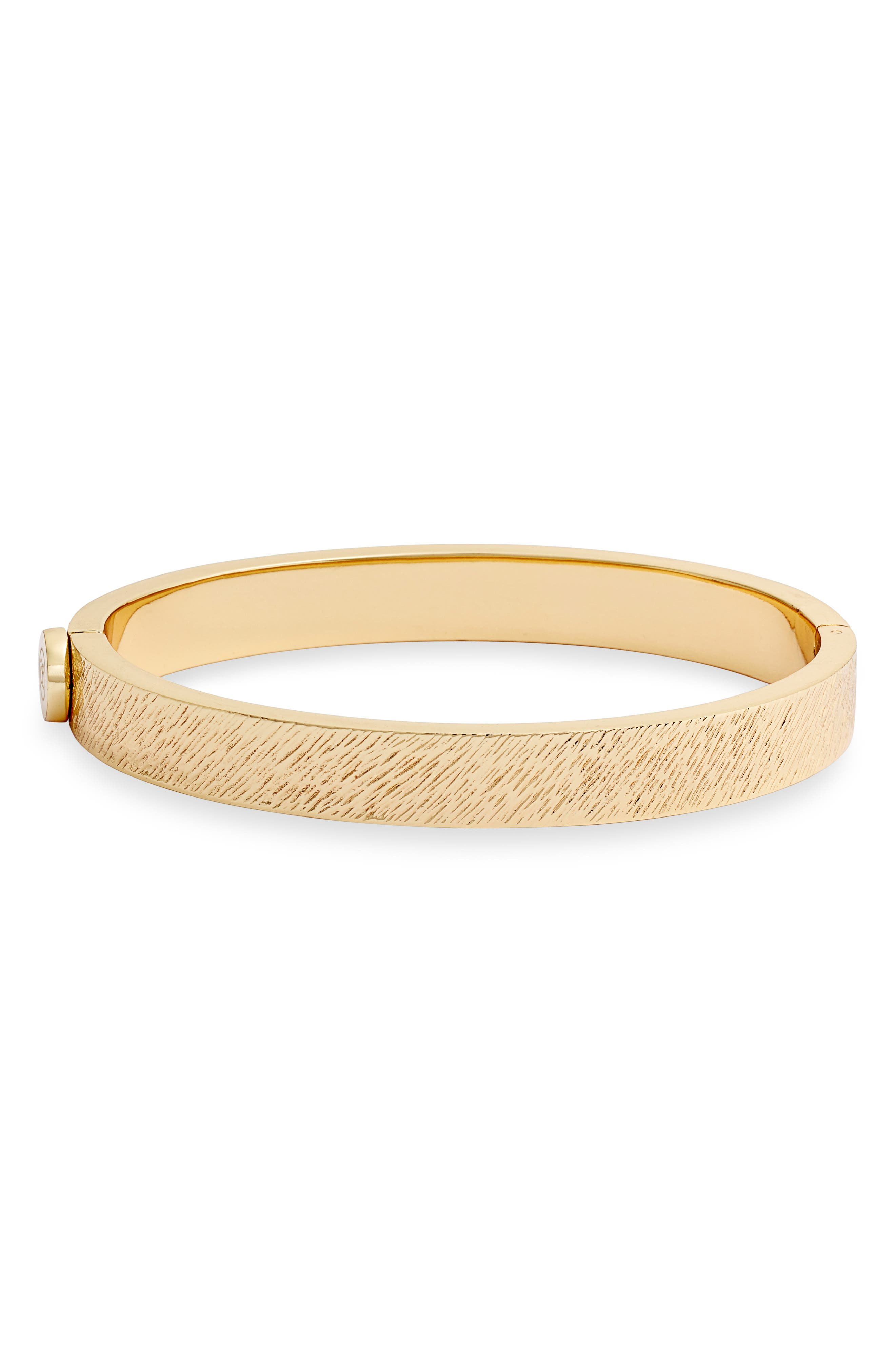 Image of Gorjana Jax 18K Yellow Gold Plated Textured Hinged Bracelet