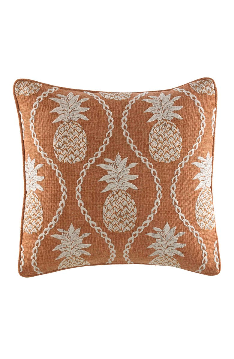TOMMY BAHAMA Batik Pineapple Accent Pillow, Main, color, 800