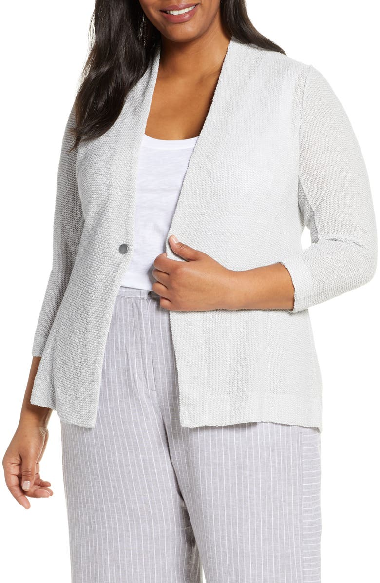 NIC+ZOE One For All Knit Jacket, Main, color, SILVER WISP