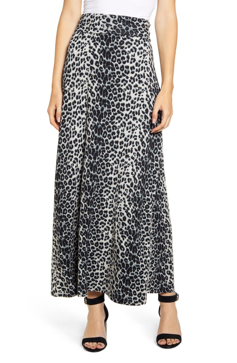 LOVEAPPELLA Roll Top Maxi Skirt, Main, color, 025