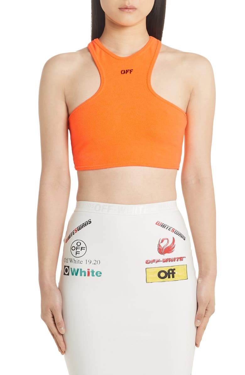 OFF-WHITE Rowing Crop Tank, Main, color, 800