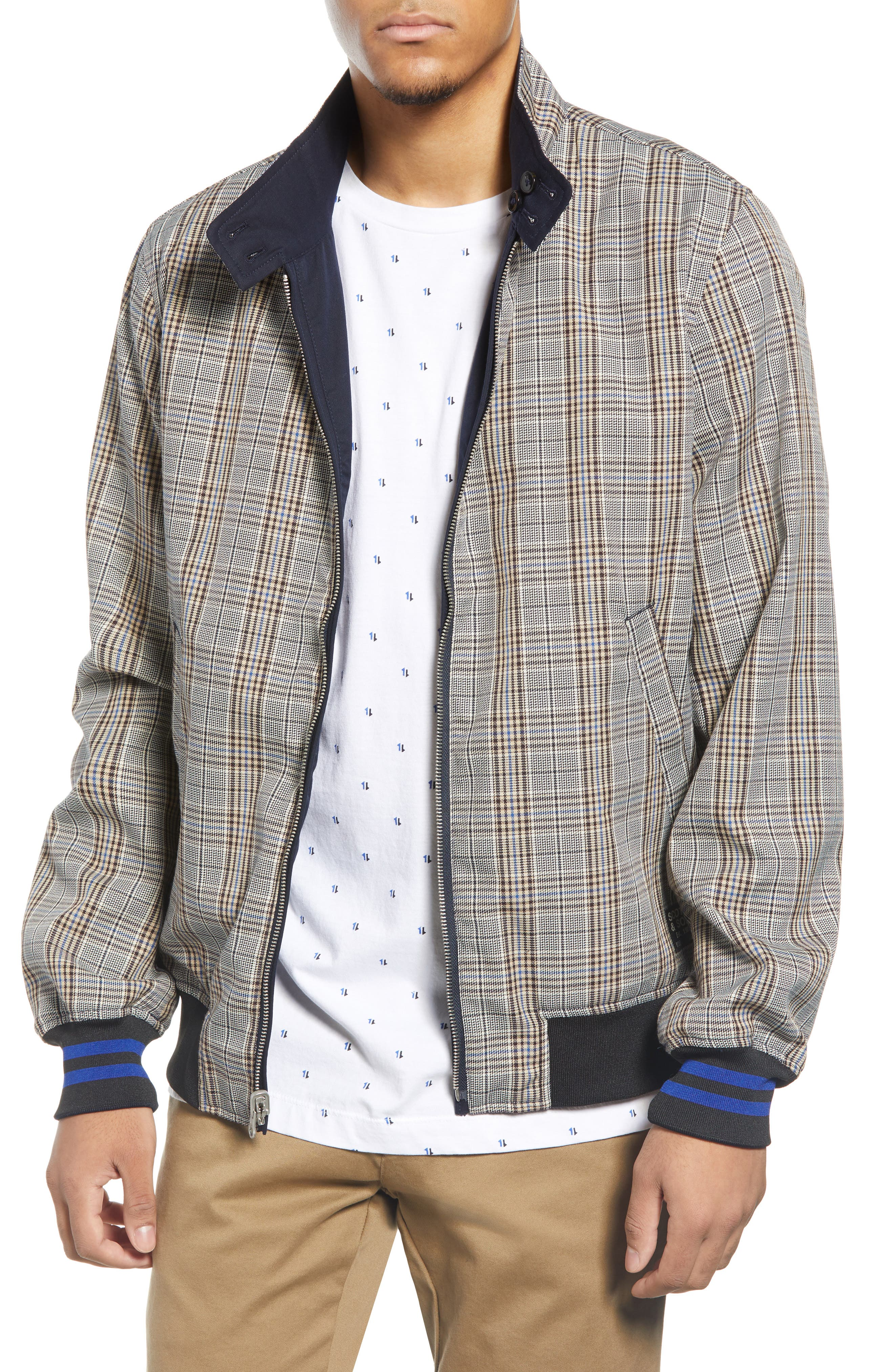 60s 70s Men's Jackets & Sweaters Mens Scotch  Soda Reversible Zip Jacket $124.00 AT vintagedancer.com