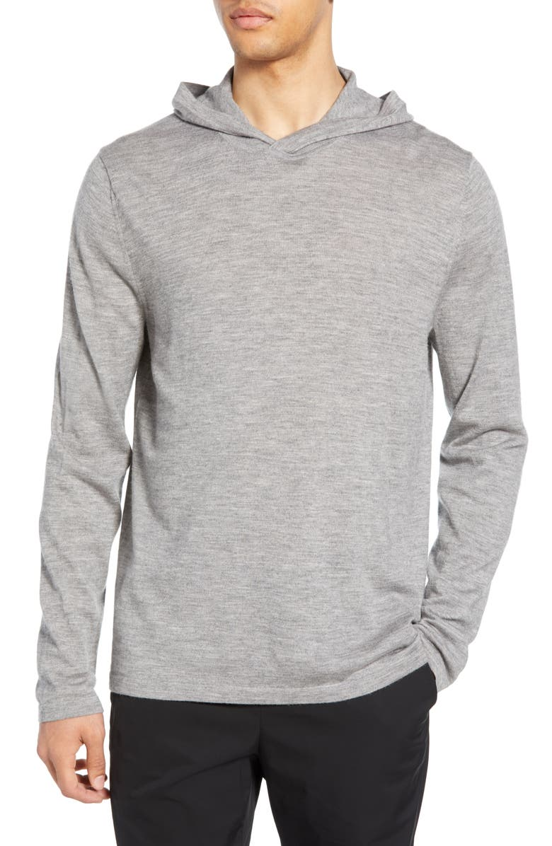 VINCE Wool & Cashmere Pullover Hoodie, Main, color, H GREY