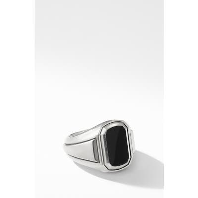 David Yurman Deco Signet Ring With Black Onyx
